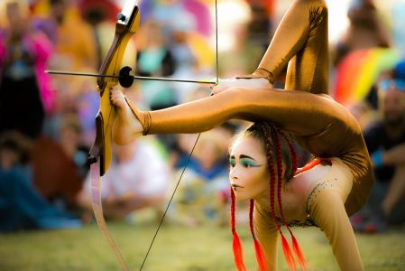 0 contortion foot archery