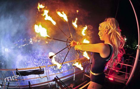 Bestival Fire Breather Beth Sykess