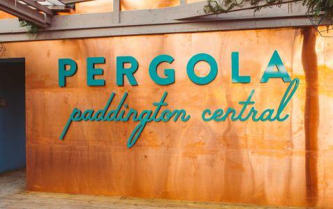 Sign making pergola
