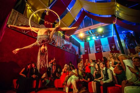 aerial act greatest showman