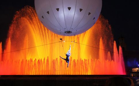 aerial  trapeze heliosphere
