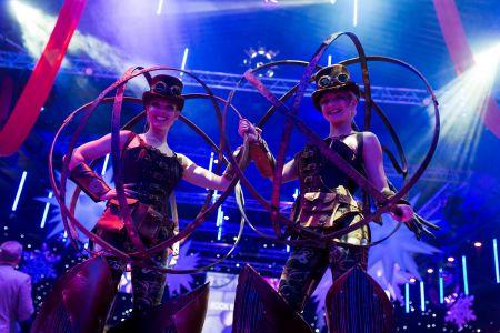 area 51 steampunk stilt walkers
