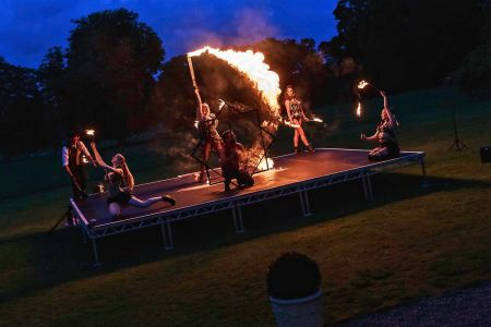 choreographed fire shows