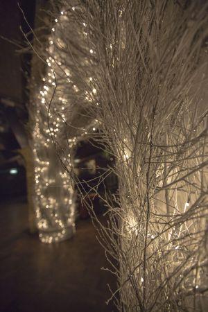 Christmas Twig Lights Decor Goth