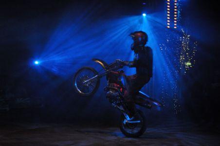 Daredevil Motorcyclist