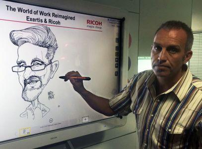 digital whiteboard caricatures