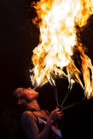 female fire breather kayla Cadorna