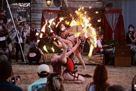 female fire performers