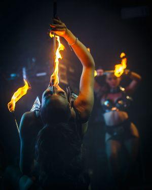 female fireater