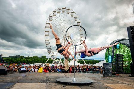 festival pole dancers