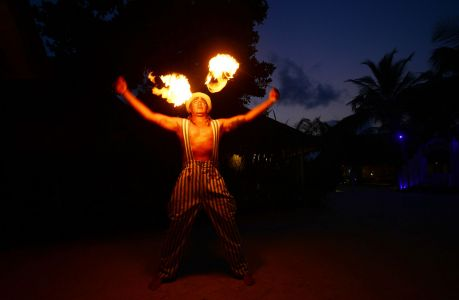 Fire Breather Maldives Easter 2017