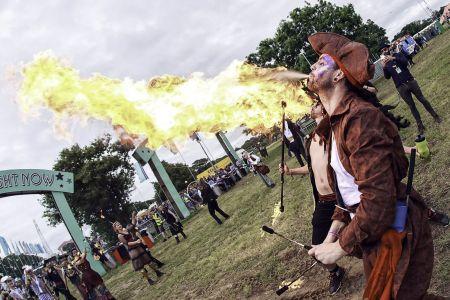 Fire Breathing Isle Of Wight Festival