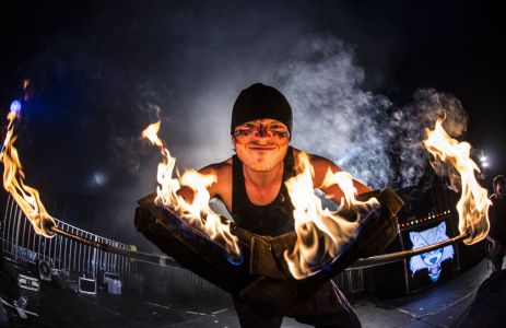 Fire Performer At Download 2015