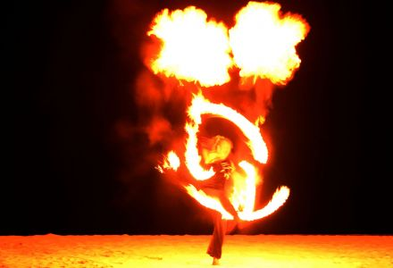 Fire Performer Maldives