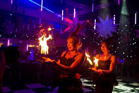 fire show victorian theme
