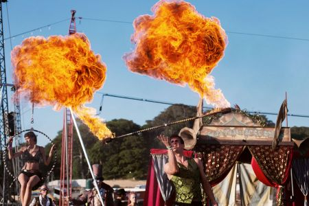 fire staff performer