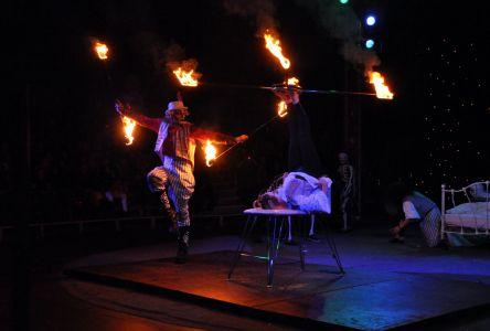 foot juggler fire