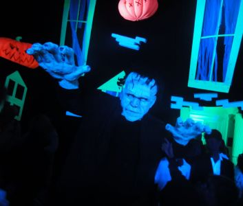 Frankenstein Monster Jonathan Ross Party