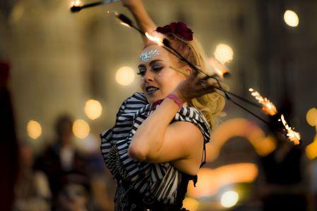 girl fire performer