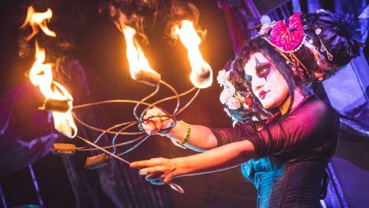 Girl Fire Performance Artist Rainbow Birmingham