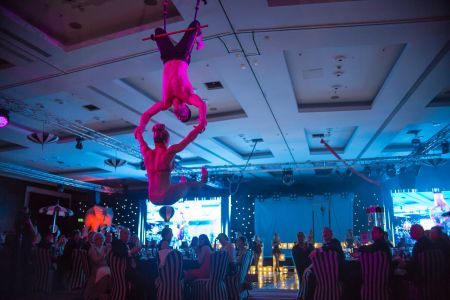 greatest showman aerial act