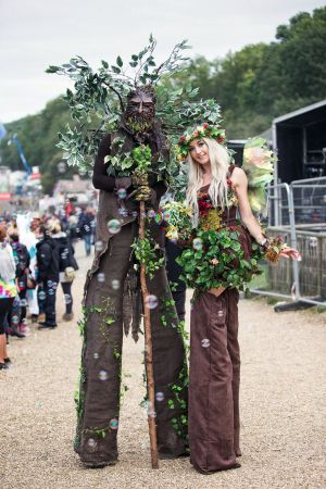 Green Man Stilt Bestival