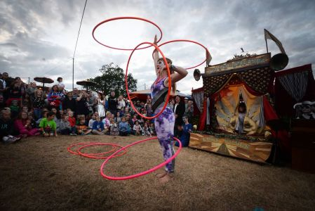 hula hoop act camp bestival