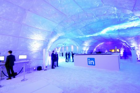 Ice Cave Conference Decor