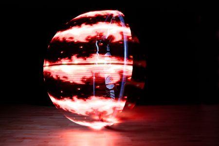 led cyr wheel performer