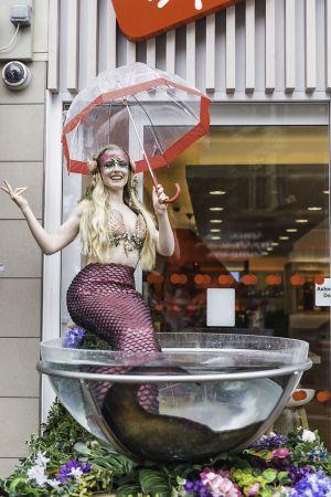 Mermaid In Champagne Glass