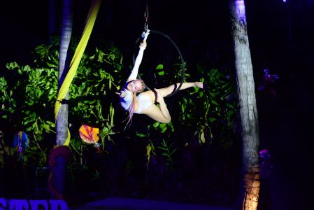 Night Time Aerial Performer