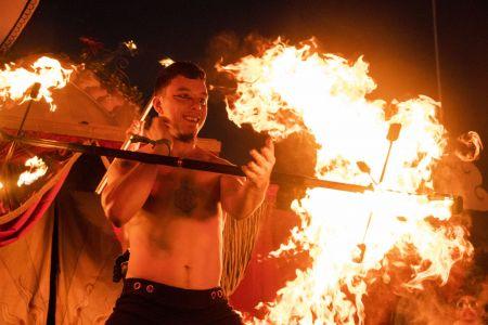 performer fire