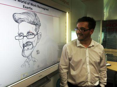 ricoh digital whiteboard cartoon