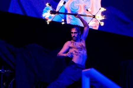 rio carnival fire performer