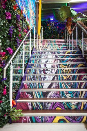 Rio De Janeiro Theme Stairs