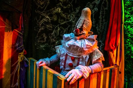scary clown performer