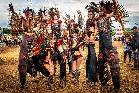 stilt walkers tribal