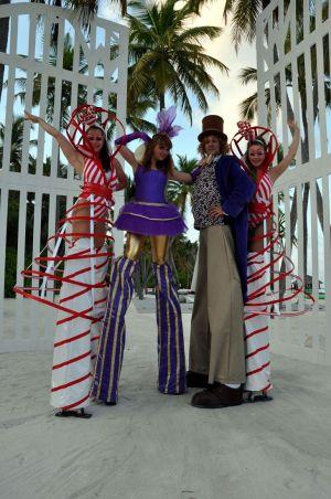 Stilt Walker Willy Wonka