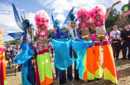 Stilt Walkers At Bestival 2015