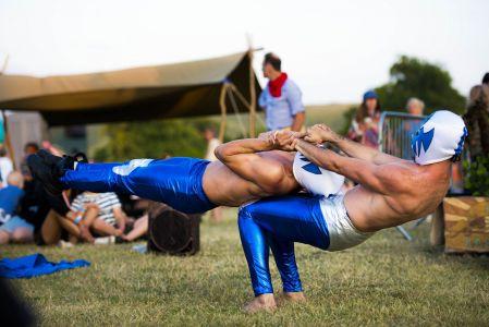 strongman acrobats