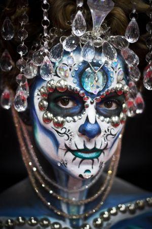 sugar skull makeup artist