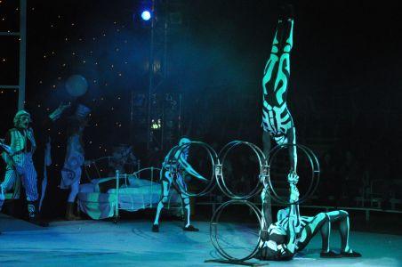 tumbling acrobat performers