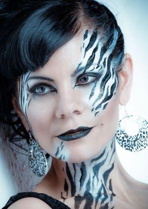 zebra makeup design