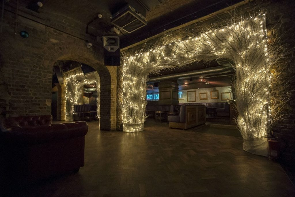 Christmas Gothic club decor